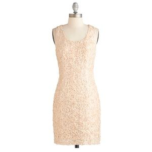 ModCloth White Wine Night Dress